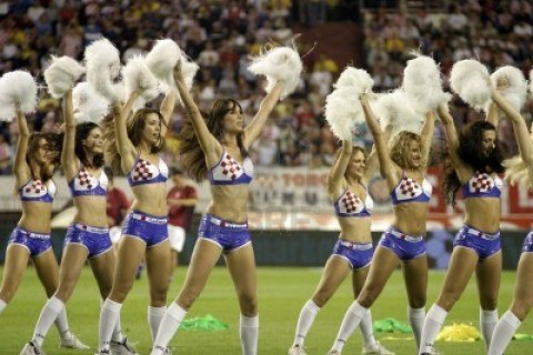 cheerleaders match football croatie bresil 2005