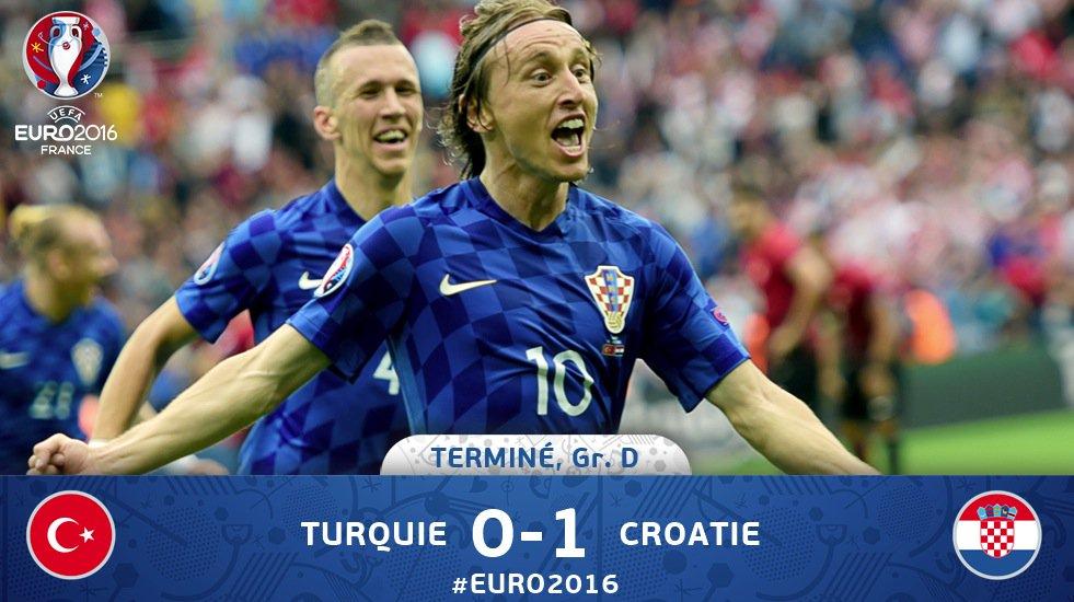 Euro 2016 – La Croatie domine la Turquie (1-0)